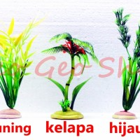 Jual tanaman pohon hias hiasan aksesoris plastik sintetis aquarium Murah