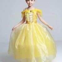 Dress Baju Costume Kostum Gaun Princess Belle (Beauty and The Beast)