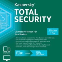Jual Kaspersky Total Security 2017 / Pure 2 Pc 1 Tahun Murah