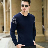 Jual Eduardo Tribal Pakaian Baju Sweater Rajut Korea Pria Murah