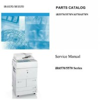 Service Manual & Parts Catalog w/ user Guide Canon iR6570 / 5570