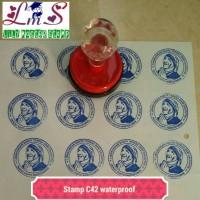 Stamp Stempel Nama Perusahaan Sekolah Bisnis Sales Logo Bulat C42