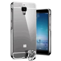 Case For xiaomi Mi4i/Mi4c Bumper Chrome With Backcase Mirror - Black