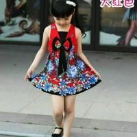 Jual Korea Dress Pakaian Anak Perempuan 2-5 Tahun V Neck Import Murah