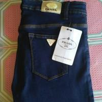Celana jeans Prada Biru Dongker