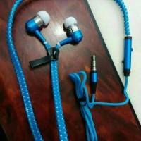 Handsfree Headset Earphone Keren Kuat Zipper Unik Lucu Original Asli