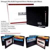 Dompet Pria Imperial Horse Wallet Medium Flip Brown Original Kulit