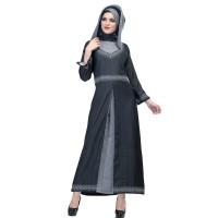 576SHJ, gamis/baju/dress muslimah jeans casual/resmi wanita/cewek