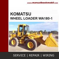 Service Manual Komatsu Wheel Loader WA180-1