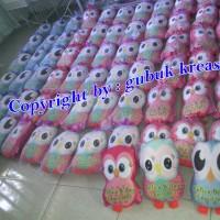 Jual souvenir ultah bantal owl panjang/ bs desain utk souvenir pernikahan Murah