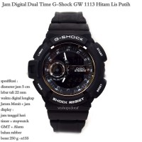 JAM TANGAN CASIO G-SHOCK D-3661 X FACTOR DUAL TIME NEW KW SUPER FULL BLACK