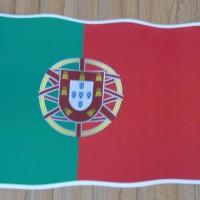 Stiker bendera negara PORTUGAL