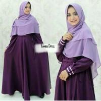 Gamis Yumna Purple Baloteli