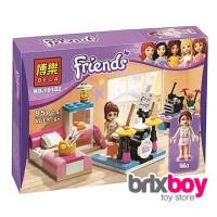 Lego Bela Friends Mia Bedroom with Drum Set 10132 3939 87pcs Brixboy