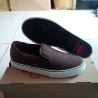 Vans Off The Top Slip On Rowley XL-2 Canvas, Coklat Tua.