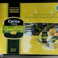 Jual Manisan Buah Carica Gemilang Norm Pack (Isi 12 Cups, Netto 125 gr/cup) Murah