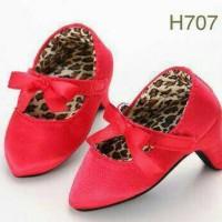 Jual import sepatu anak bayi high heels shoes baby merah prewalker leopard Murah