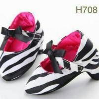 Jual sepatu anak bayi prewalker high heels baby shoes pre walker zebra Murah
