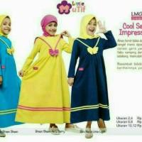 Gamis Anak Mutif LMG 138 / Size 10 - 12 / Usia 9 - 12 Tahun