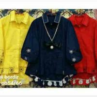 blouse/kemeja katun bordir/baju wanita import/kaos/sweater/atasan