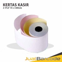 KERTAS STRUK HVS 3PLY 75x60 UNTUK PRINTER KASIR DOT MATRIX 75x60mm