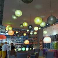 Jual grosir Lampion benang gantung/lampu gantung/ hiasan cafe hotel DLL Murah