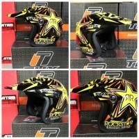 Helm cross Halface THX Rockstar KLX Dtracker KTM Husqvarna