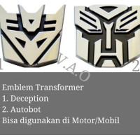 Jual Emblem Transformer Autobot-Deception Murah