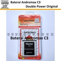 Baterai Smartfren Andromax C3 Original Double Power H11308 | HP, C 3