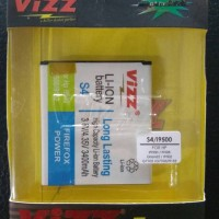 Vizz Samsung Galaxy S4 i9500 3400 mAh Battery Baterai Double Power