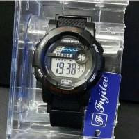 Jam tangan sport wanita, Fujitec digital, water resist, super premium