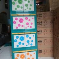 Jual lemari plastik miniclub flora 4 susun Murah