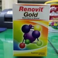 RENOVIT GOLD ISI 30 MULTIVITAMIN DAN MINERAL SUPPLEMENT ORANG TUA