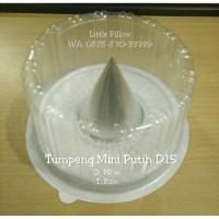 Jual (BARU) Tumpeng Mini PUTIH D15/Mika Bulat/Mika Bolu/Mika Kue Tart Murah