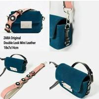 tas Zara Double Look Mini Leather uk.18x7x14