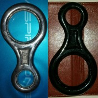 Carabiner Figure Eight Besi Baja Ringan Karabiner Flying Fox, Climbing