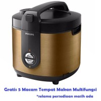 Jual Philips HD3128 Rice Cooker Jar Pro Ceramic 2 Liter - Magic Com GOLD Murah