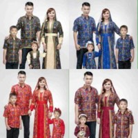 Baju Batik Couple Sarimbit Keluarga Gamis Ashanty Plus 2 Anak Seragam