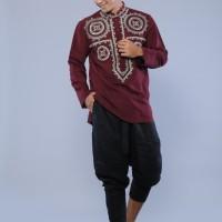 Jual baju koko lengan panjang modern bordir mewah preview itang yunasz Murah
