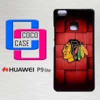 Hardcase Hp Huawei P9 Lite Red Squares Blackhawks X4239