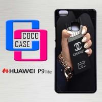 Hardcase Hp Huawei P9 Lite Black Chanel cigarette X4550