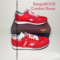 Original 100% Sepatu KangaROOS Combat Racer Running Shoes Merah gym