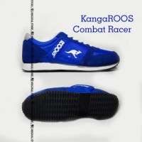 Original 100% Sepatu KangaROOS Combat Racer Running Shoes Biru gym
