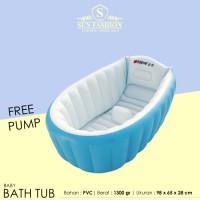 Jual Baby Bathub Modern / Bak Mandi Bayi Bath Tub FREE POMPA - BLUE Murah