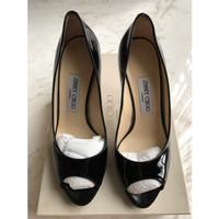 Sepatu Heels Jimmy Choo Luna Patent Heels Black