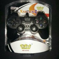 GAMEPAD SINGLE HITAM / BLACK WELCOM 2 MOTOR VIBRATION