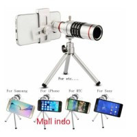 harga Mobile Phone Lens 12x Zoom Telescope With Tripod Bonus Holder Tokopedia.com