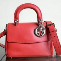 JUAL TAS DIOR BE DIOR BAG MINI SWIFT RED LEATHER MIRROR QUALITY