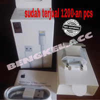 Jual charger + kabel iphone 5 / 5s / 6 / 6+ ORIGINAL LIGHTNING GRS 1 BULAN Murah