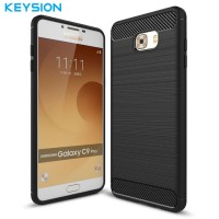 softcase Samsung C9 Pro soft case carbon fiber casing cover